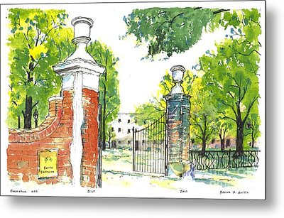 Horseshoe University Of S.c. Metal Print