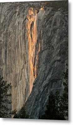 Horsetail Falls Sunset Metal Print by Patricia Sanders