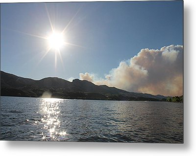 Horsetooth Wildfire Metal Print by Holly OBriant