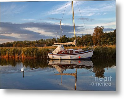 Horsey Mere In Evening Light Metal Print by Louise Heusinkveld