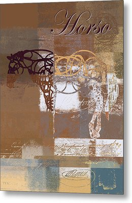 Horso - S03bgmc1tx Metal Print by Variance Collections