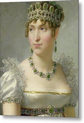 Hortense De Beauharnais Metal Print by Jean-Baptiste Regnault