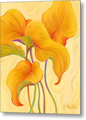 Metal Print featuring the painting Hosta Hoofers by Sandi Whetzel