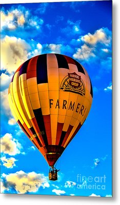 Hot Air Ballon Farmer's Insurance Metal Print