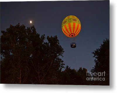Hot Air Balloon At Night  Metal Print