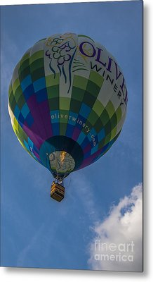 Hot Air Balloon Ow Metal Print by David Haskett