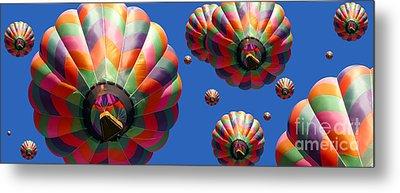 Hot Air Balloon Panoramic Metal Print