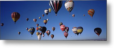 Hot Air Balloons Floating In Sky Metal Print
