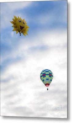 Hot Air Balloons In Flight Metal Print by Brenda Giasson