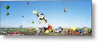 Hot Air Balloons In The Sky Metal Print
