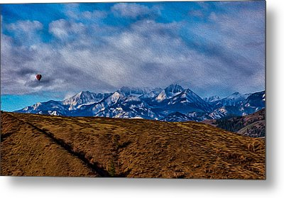 Hot Air Baloon Ride In The Methow Metal Print by Omaste Witkowski