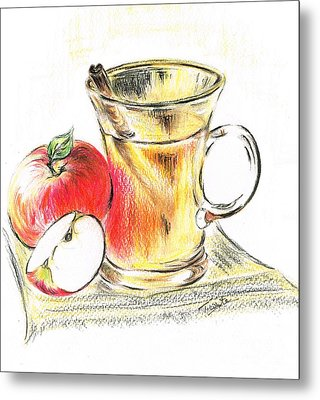 Hot Apple Cider Metal Print by Teresa White