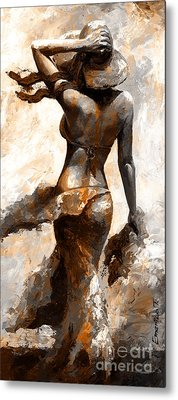 Hot Breeze - Digital Color Version Rust Metal Print by Emerico Imre Toth