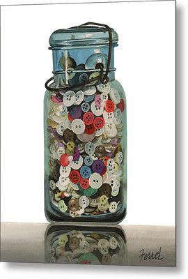 Metal Print featuring the painting Hot Buttons by Ferrel Cordle