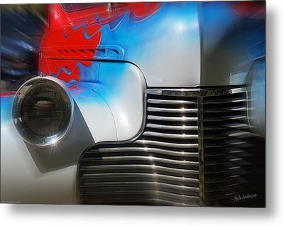 Hot Chevy Metal Print by Mick Anderson