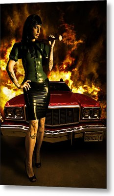 Hot Chick Metal Print by Nathan Wright