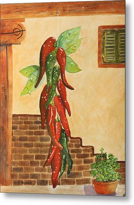 Hot Chili Peppers Metal Print by Patricia Novack