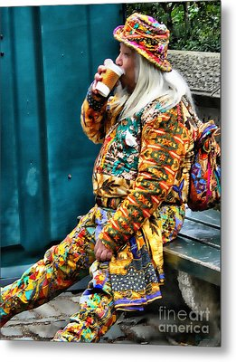 Hot Coffee And Haute Couture Metal Print by Jeff Breiman