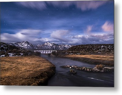 Hot Creek Bridge Metal Print by Cat Connor