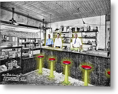 Hot Dog Lunch Metal Print by Barry Moore