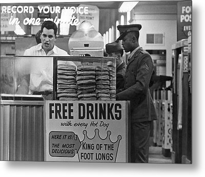 Hot Dog Stand At Playland Metal Print