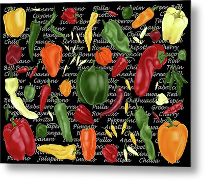 Hot For Chilis Metal Print
