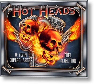 Hot Heads Metal Print by JQ Licensing