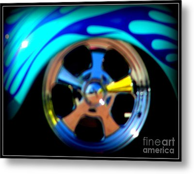 Metal Print featuring the photograph Hot Hot Wheels  by Bobbee Rickard