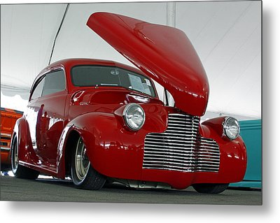 Metal Print featuring the photograph Hot In Red by Shoal Hollingsworth