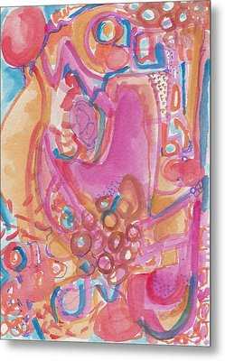 Hot Pink Abstract Metal Print