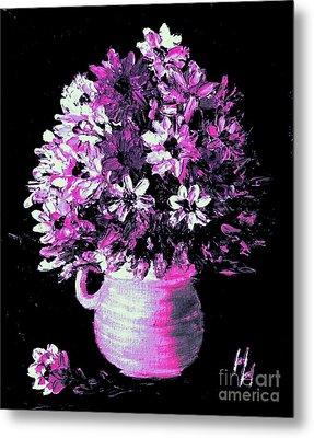 Hot Pink Flowers Metal Print