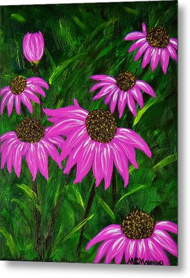 Hot Pink Jungle Metal Print by Celeste Manning