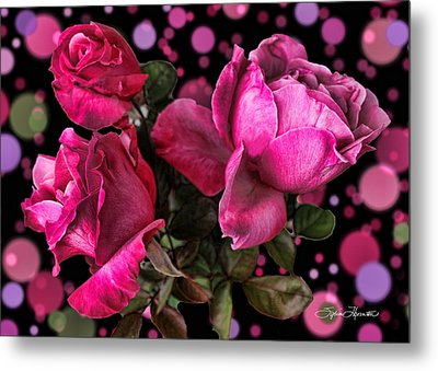 Hot Pink Trio Metal Print by Sylvia Thornton