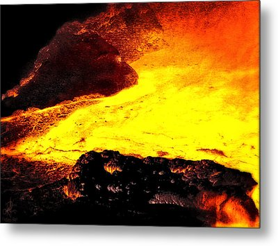 Metal Print featuring the photograph Hot Rock And Lava by Pennie  McCracken