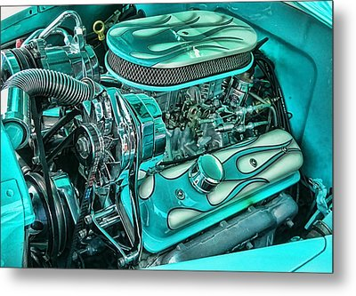 Hot Rod Engine Metal Print by Victor Montgomery