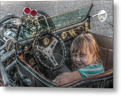 Hot Rod Girl Metal Print by Howard Markel