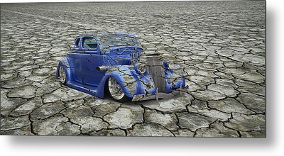 Hot Rod Mirage Metal Print