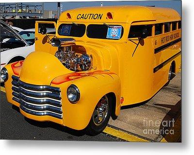 Hot Rod School Bus Metal Print