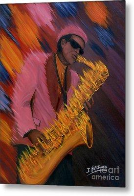 Hot Sax Metal Print by Jeff McJunkin
