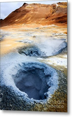 Metal Print featuring the photograph Hot Springs At Namaskard In Iceland by Peta Thames