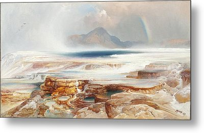 Hot Springs Of Yellowstone Metal Print by Thomas Moran