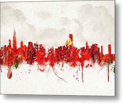 Hot Summer Day In Chicago Metal Print by Aged Pixel