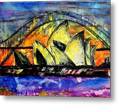 Hot Sydney Night Metal Print by Lyndsey Hatchwell
