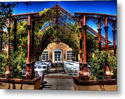 Hotel Albuquerque Wedding Pavilion Metal Print by David Patterson