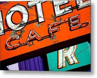 Metal Print featuring the photograph Hotel Cafe Bar In Alma by Daniel Woodrum