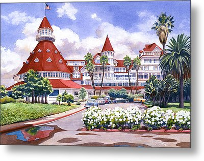 Hotel Del Coronado After Rain Metal Print by Mary Helmreich