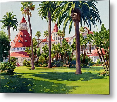 Hotel Del Coronado Metal Print by Mary Helmreich