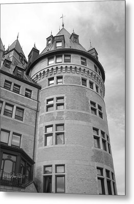 Hotel Frontenac Quebec City Metal Print by Ann Powell