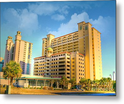 Hotel In Downtown Myrtle Beach Metal Print