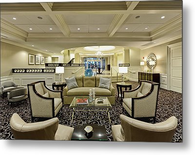 Hotel Lobby  Metal Print by M Cohen